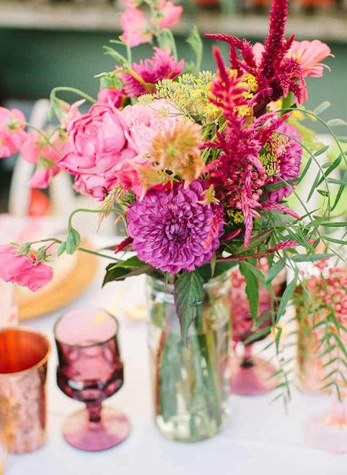Summer party ideas flower centrepiece