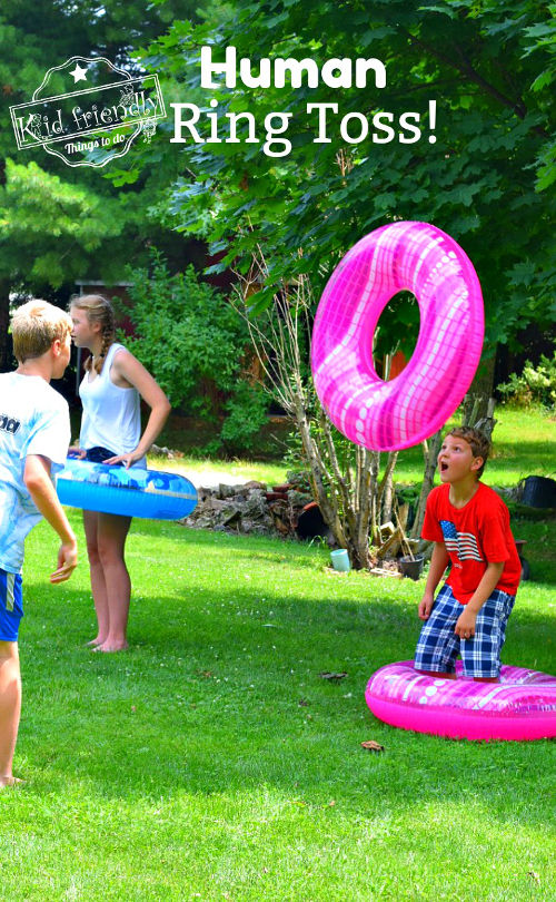 Summer party ideas human ring toss