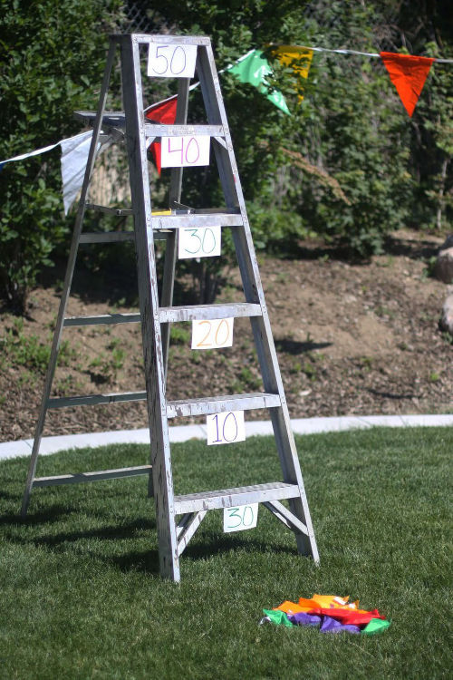 Summer party ideas outdoor games ladder