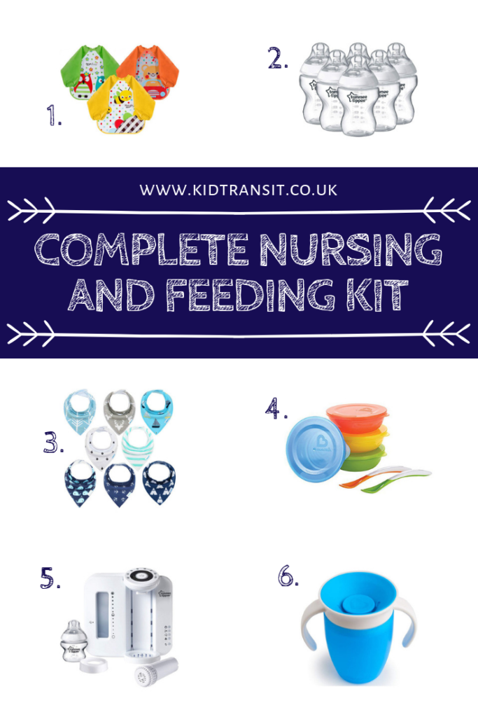 Be prepared for nursing and feeding your baby with this complete kit of 10 must-have products.