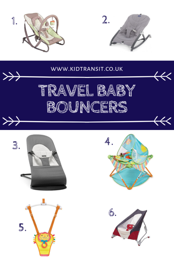 Keep your baby happy when away from home with a pack and play travel baby bouncer or jumper.