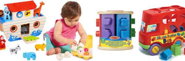 Shape sorting toys for 1 year olds
