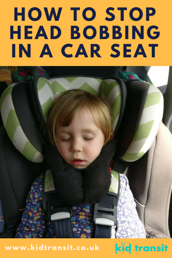 How to stop your baby or toddlers head from bobbing in a car seat using a head and neck support.