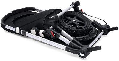 Bugaboo Cameleon 3 pushchair folded wheels off