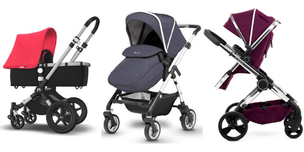 Bugaboo Cameleon 3 versus Silver Cross Wayfarer verus iCandy peach pram and pushchair systems