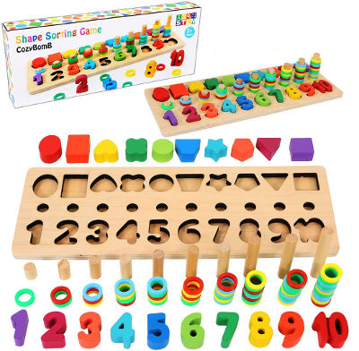 Number puzzle sorting toy