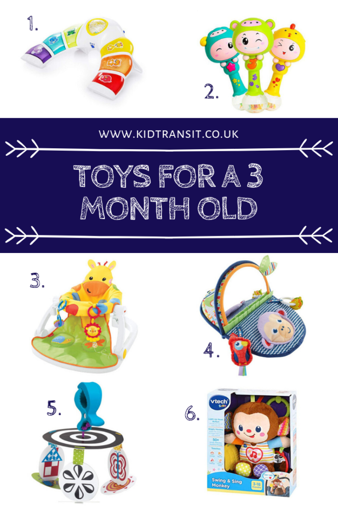The best toys for a 3 month old to help with their development and learning.