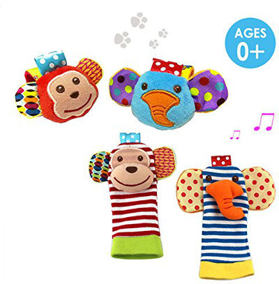 Wrist and foot animal rattles