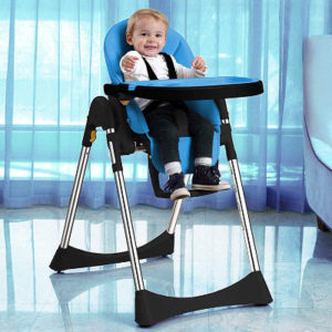 Velu soft leather foldable baby high chair