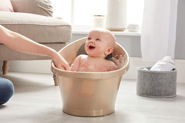 Shnuggle baby bath gold